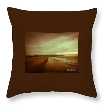 The Winter Pacific Throw Pillow by Fei A