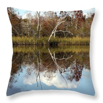 The Winter Tree Throw Pillow by Debra Forand