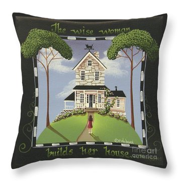 The Wise Woman Throw Pillow by Catherine Holman