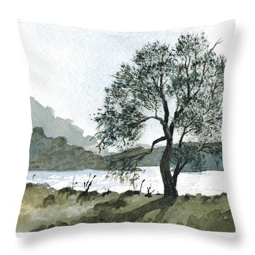 The Wishing Tree Throw Pillow by Janice Sobien