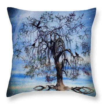 The Wishing Tree Throw Pillow by John Edwards