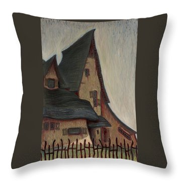 The  Witches House  Throw Pillow