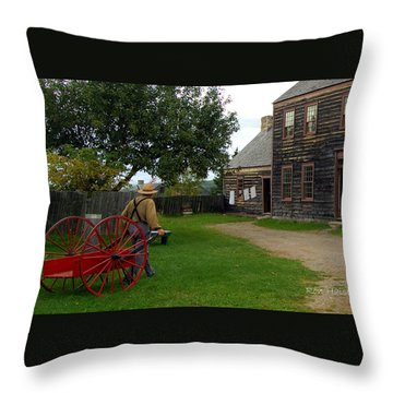 The Wood Hauler Throw Pillow by Ron Haist