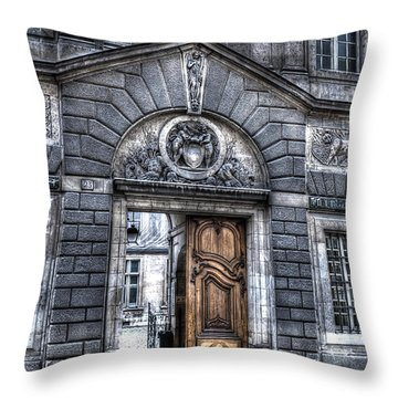 The Wooden Door Throw Pillow