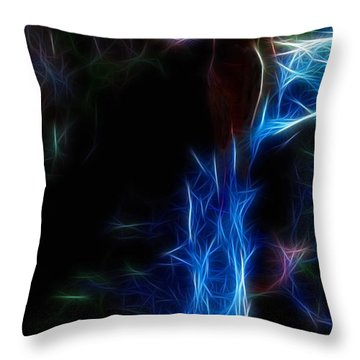 The Woods Are Lovely Dark And Deep Throw Pillow