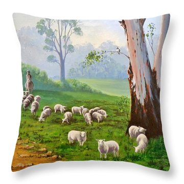 The Wool Road Throw Pillow by Anne Gardner