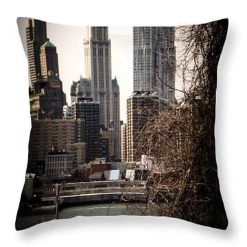 The Woolworth Building Vignette Throw Pillow