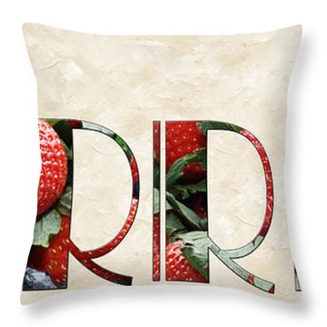 The Word Is Berries  Throw Pillow by Andee Design