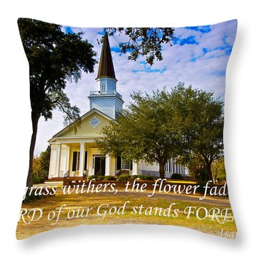 The Word Of God Stands Throw Pillow