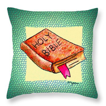 Throw Pillow featuring the painting The Word by Paula Ayers