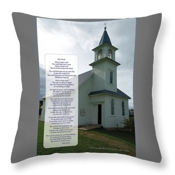 The Word Throw Pillow by Ron Haist