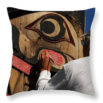 The Work Of An Artist Throw Pillow by Vivian Christopher