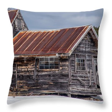The Work Shed Throw Pillow by Alana Ranney