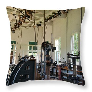 Throw Pillow featuring the photograph The Work Shop by Patrick Shupert