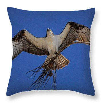 The Worker Throw Pillow