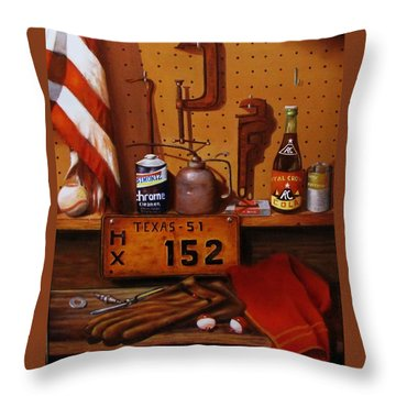 The Workshop Throw Pillow