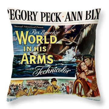 The World In His Arms 1952 Throw Pillow by Mountain Dreams