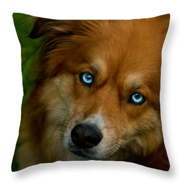 The World In My Eyes Throw Pillow by Eti Reid