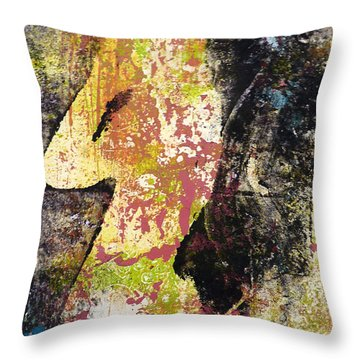 Throw Pillow featuring the painting The World Inside by P Maure Bausch