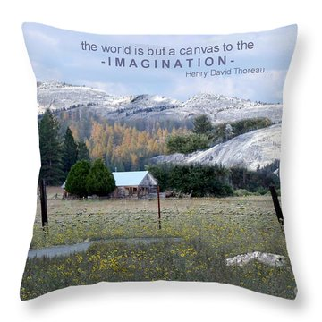 The World Is A Canvas Throw Pillow