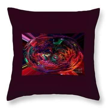 Colorful Orb Throw Pillow