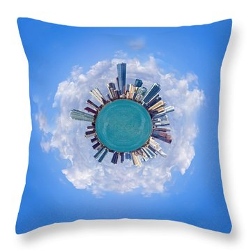 The World Of Miami Throw Pillow by Carsten Reisinger