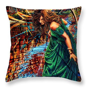 The World Unseen Throw Pillow by Greg Skrtic