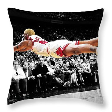 The Worm Dennis Rodman Throw Pillow