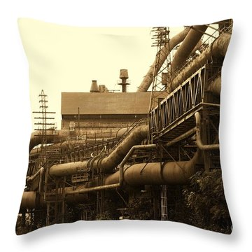 The Worm Passageways Throw Pillow