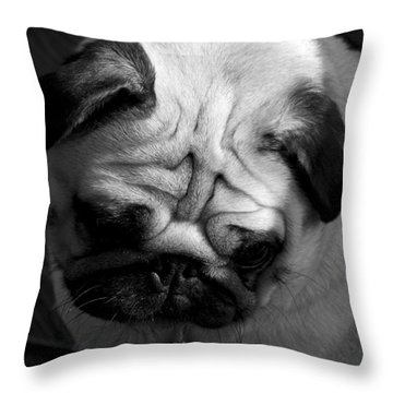 The Worrier Throw Pillow by Colleen Williams