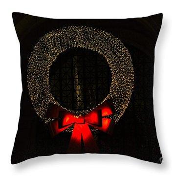 The Wreath Throw Pillow