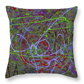The Writing On The Wall 15 Throw Pillow by Tim Allen