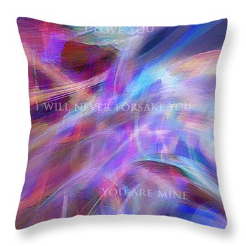Throw Pillow featuring the digital art The Writing's On The Wall by Margie Chapman