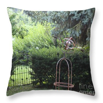 The Wrought Iron Gate Throw Pillow by Yvonne Wright