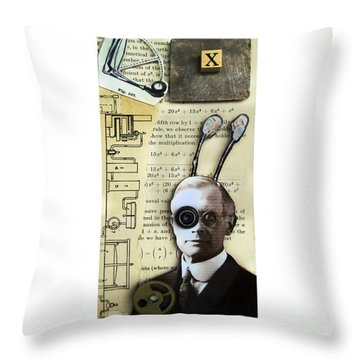 The X Factor - Inventor Throw Pillow