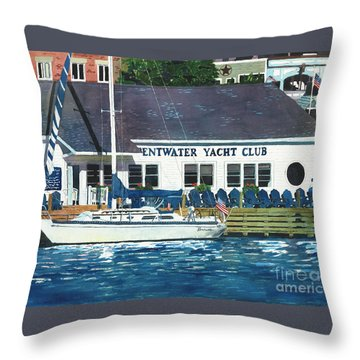 The Yacht Club Throw Pillow
