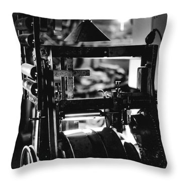 The Yardstick Press Throw Pillow