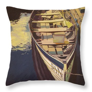 The Yellow Paddle Throw Pillow by Thu Nguyen