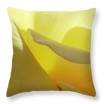 The Yellow Petal Mountains  Throw Pillow by Steve Taylor