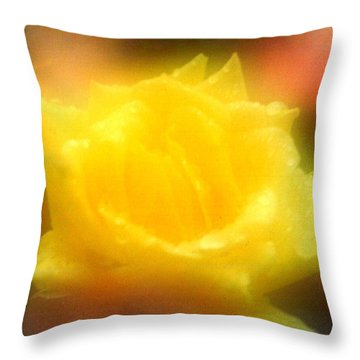 Throw Pillow featuring the photograph New Orleans  Yellow Rose Of Tralee by Michael Hoard