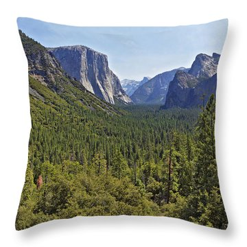 The Yosemite Valley Throw Pillow by Sebastien Coursol