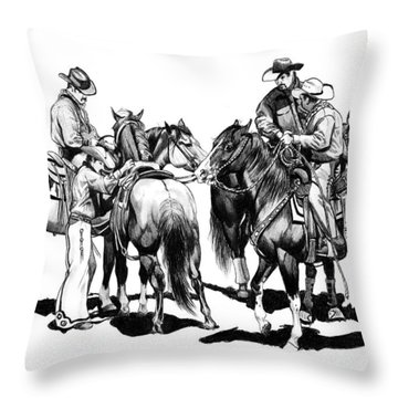 The Youngster Throw Pillow by Cheryl Poland