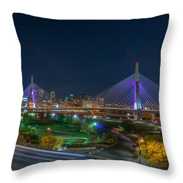 The Zakim Bridge Throw Pillow