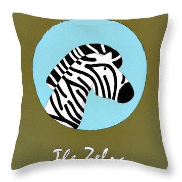 The Zebra Cute Portrait Throw Pillow