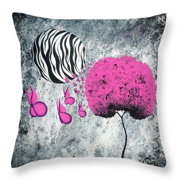 The Zebra Effect 1 Throw Pillow