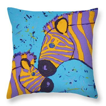 The Zebra Nuzzle Throw Pillow