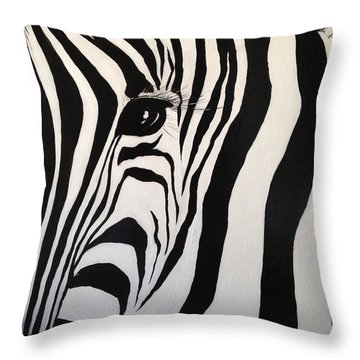 The Zebra With One Eye Throw Pillow