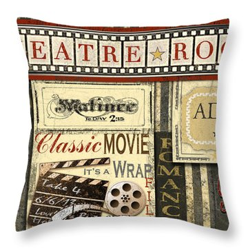 Theatre Room Throw Pillow by Jean Plout