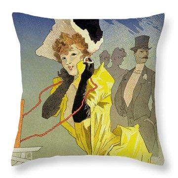 Theatrophone Poster Throw Pillow