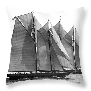 Thebaud Passes Bluenose Throw Pillow